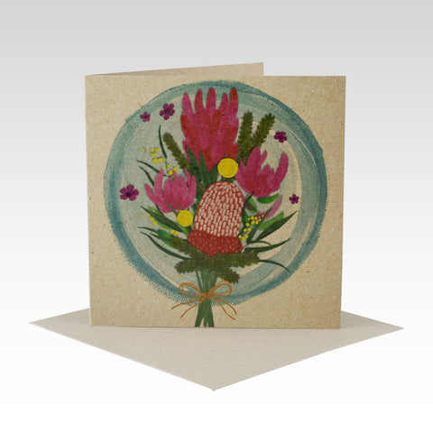 Australiana Floral Bunch- Greeting Card