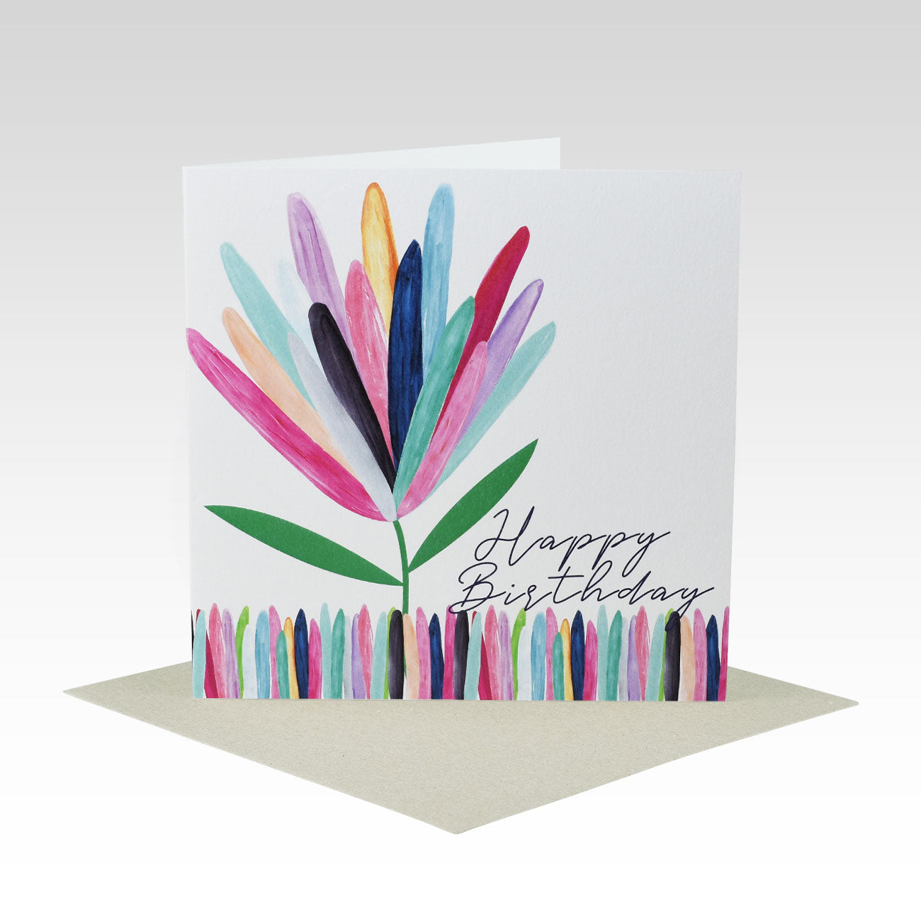 Coloured Protea Birthday- Greeting Card