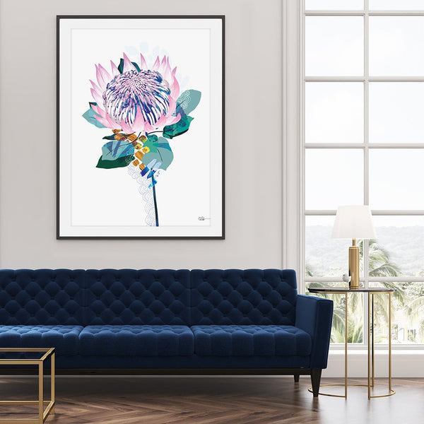 King Protea- Art Print