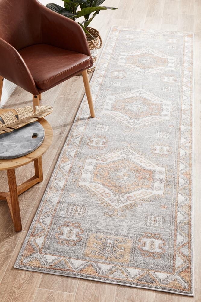 Mayfair Caitlen Grey Runner Rug