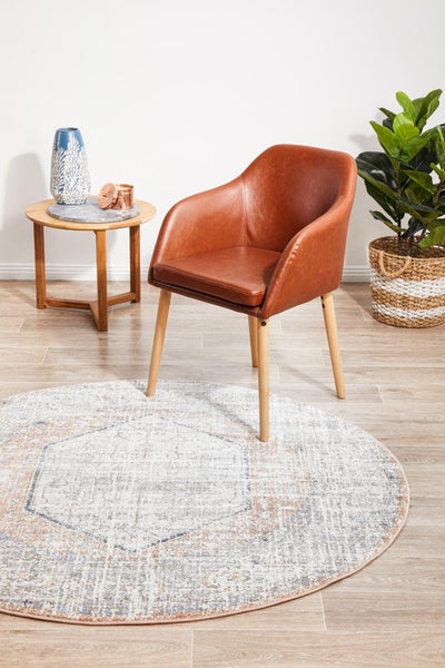 Mayfair Lorissa Peach Round Rug