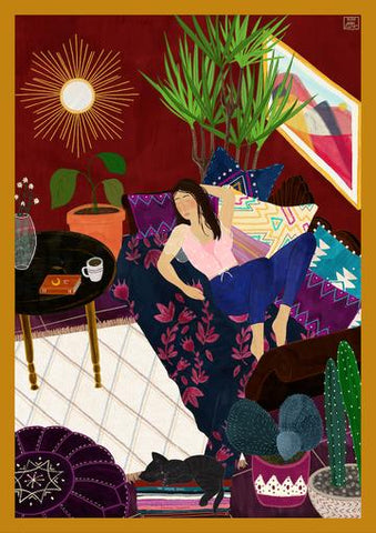 Nap Time Art Print by Olivia Buerki