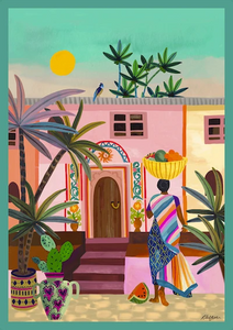 Streets of India Art Print by Rhiannon James