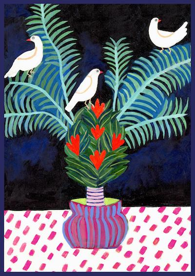 Three Doves Art Print by Misha Blaise