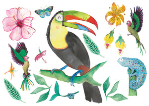 Cut-and-stick Jungalow Toucan Decal Set