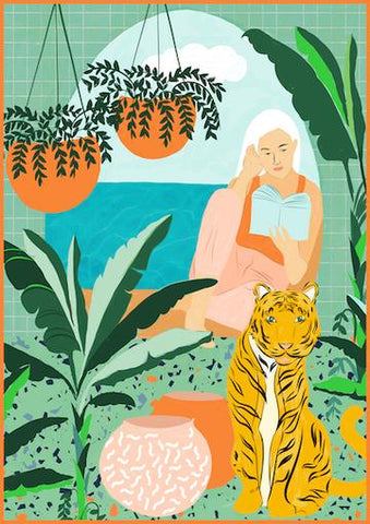 Tropical Vacay Art Print by Uma Gokhale