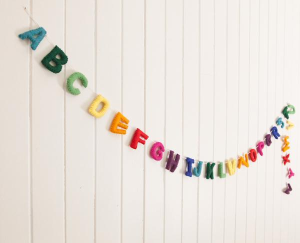 Alphabet Rainbow Garland