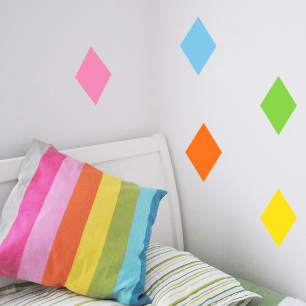 Diamond Wall Decals LARGE 24cm x 18cm