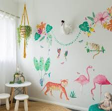 Cut-and-stick Jungalow Flamingo Set