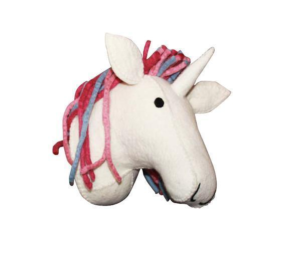 Magical Unicorn Felt Head