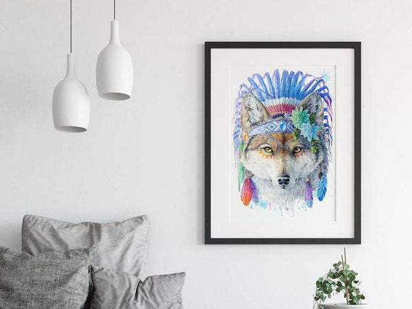 Wolf Print - Spirit Animal Series