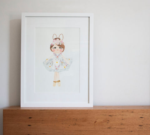 Bunny Angel – Limited Edition Fine Art Print