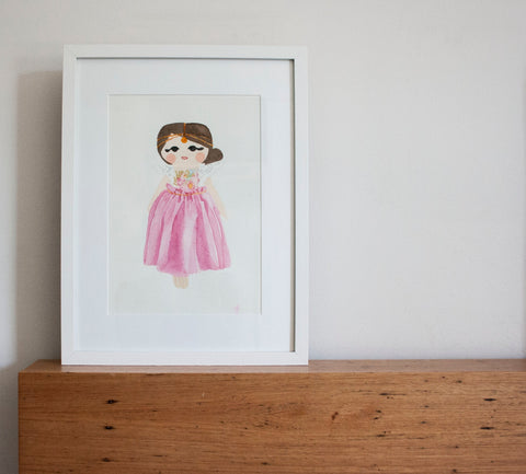Penny Angel Pink – Limited Edition Fine Art Print