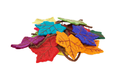 Rainbow Flame Tree Leaf Felt Garland