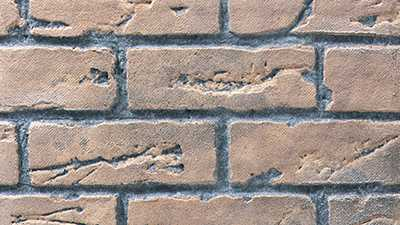 Regency Accessories * Brick Panel - Rustic Brown Standard