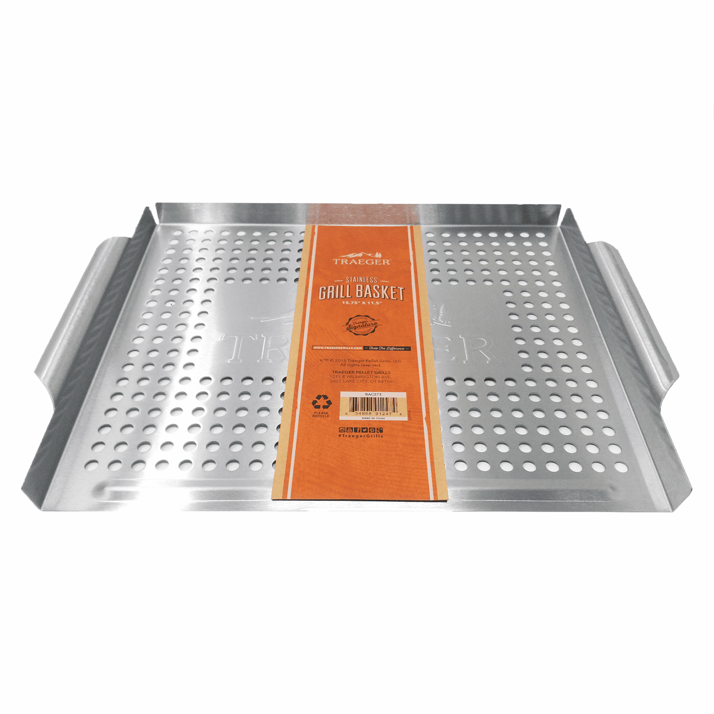 BAC273 | Traeger Stainless Steel Grill Basket, BAC273