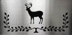 Harman - Inlays * Brushed Stainless Deer Plate