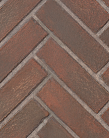 Old Town Red Herringbone Ceramic Panels