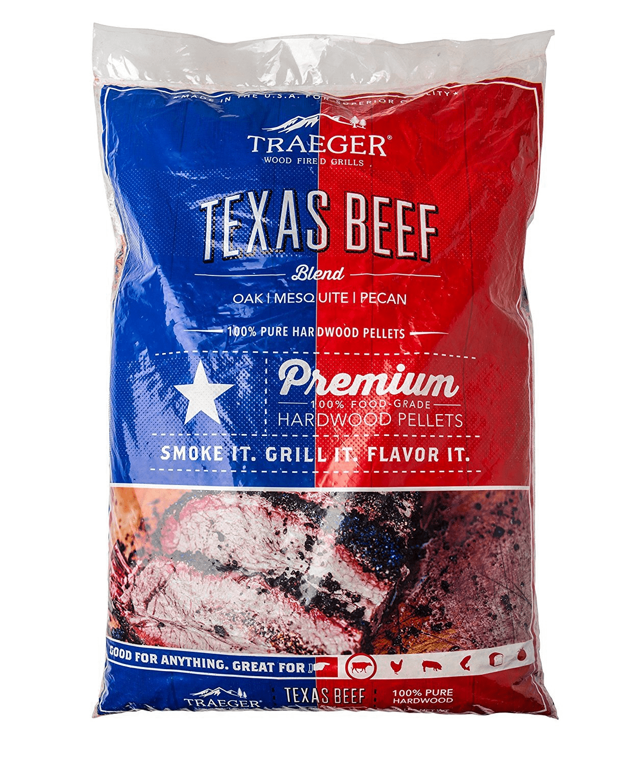 PEL328 | Traeger Texas Beef Blend 100% All-Natural Hardwood Pellets, PEL328