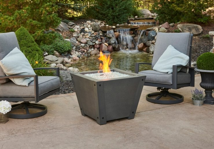 Axel Square Gas Fire Pit Table