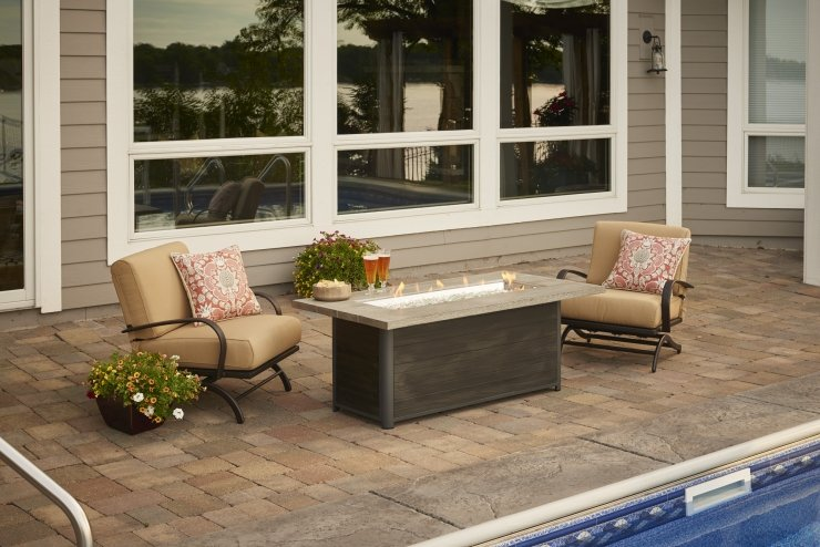 Cedar Ridge Linear Gas Fire Table