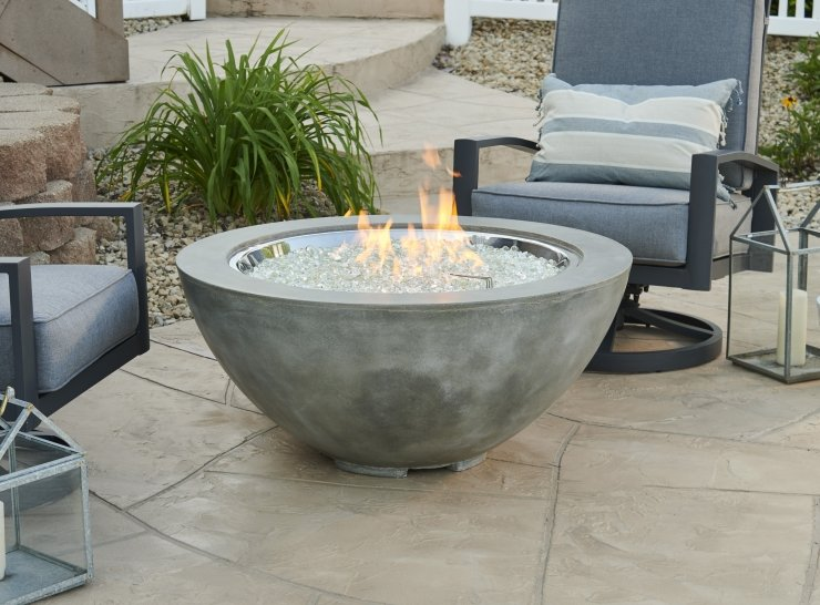 "Natural Grey Cove 30"" Gas Fire Pit Bowl"