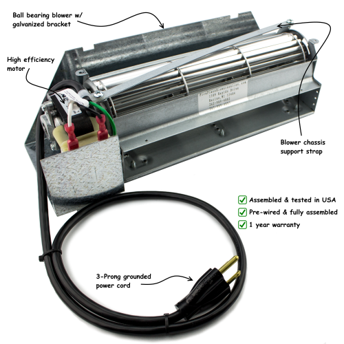 FBK-100KITAMP | Lennox & Superior Fireplace Blower Fan Kit, #FBK-100KITAMP