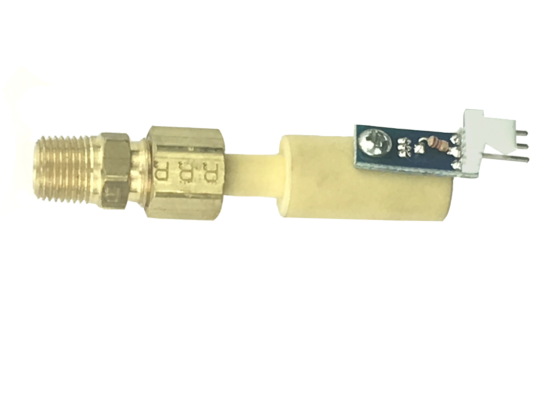 00-0005-0027-AMP | Thelin T-1 Sensor Mounted with brass Compression Fitting, 00-0005-0027-AMP