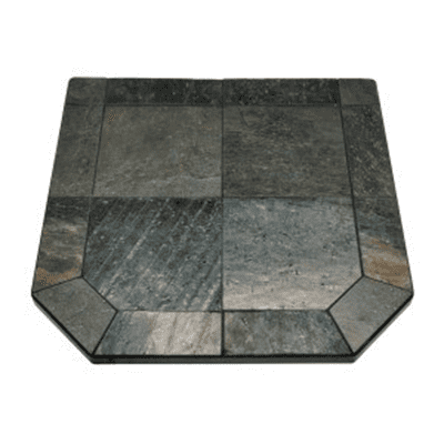 American Panel Indian Silver Slate Hearth Board