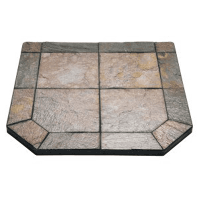 Harman Polished Copper Slate Hearth Board