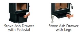 Ironstrike Accessories * Ash Drawer with Pedestal or Legs