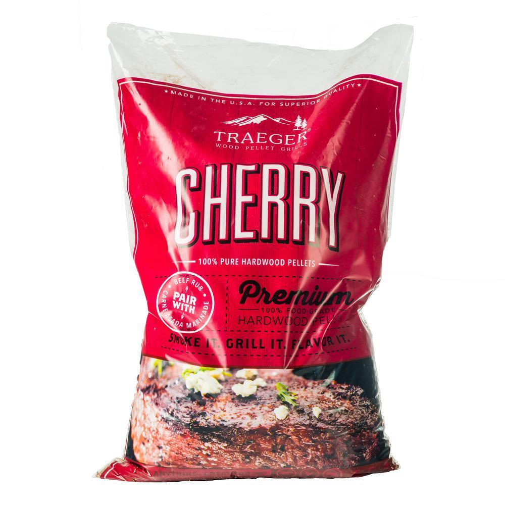 PEL309 | Traeger Grills Cherry 100% All-Natural Hardwood Pellets 20LB, #PEL309