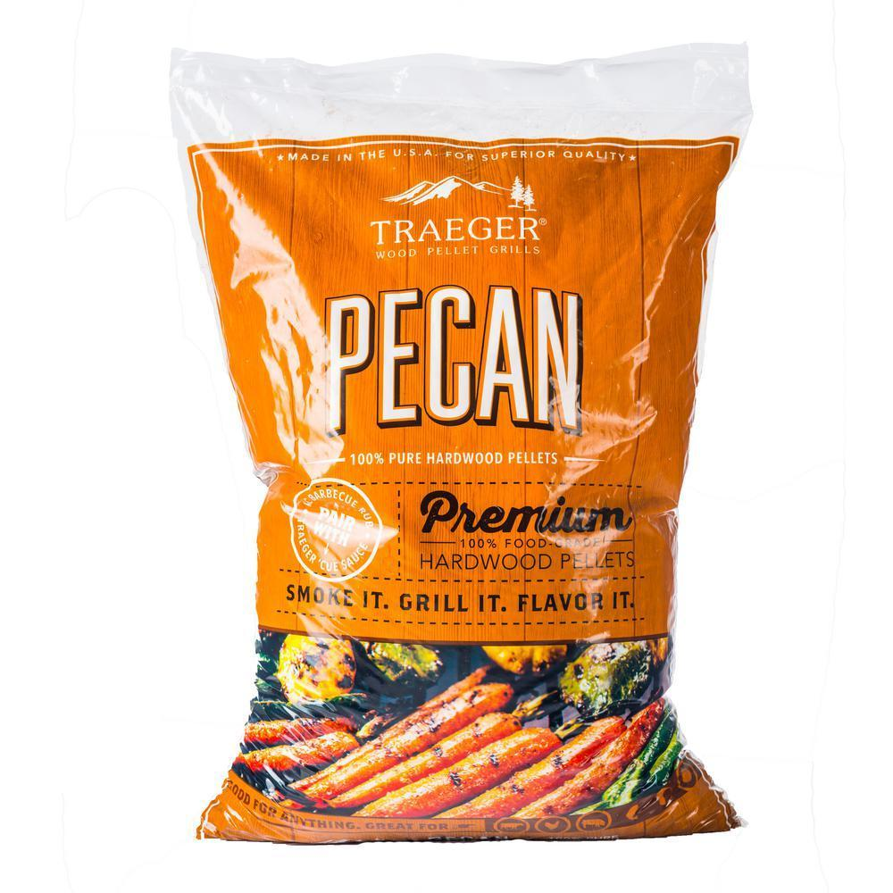 Traeger Pecan 100% All-Natural Hardwood Pellets 20LB, PEL314 (Free shipping is not available on this item)