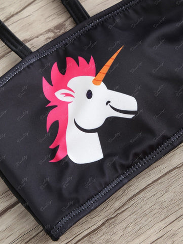 Unicorn Cheeky Tube Bikini Set