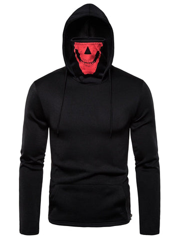 Face Mask Design Pocket Hoodie