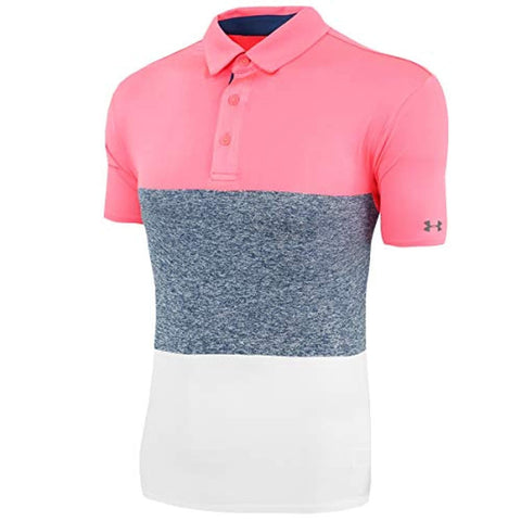 Under Armour Men's Playoff Heritage Blocked Polo
