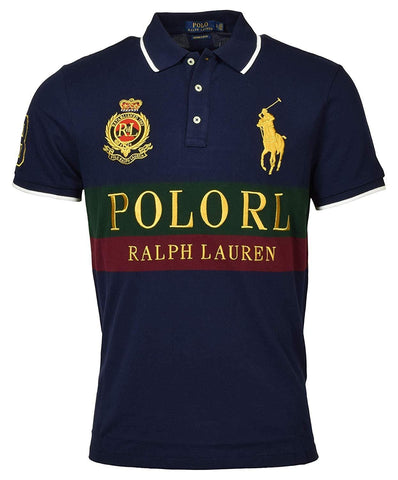 POLO RALPH LAUREN Mens Custom Slim Fit Embellished Polo Shirt