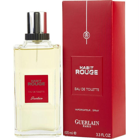 Habit Rouge By Guerlain Edt Spray 3.3 Oz - AuFreshScents.Com