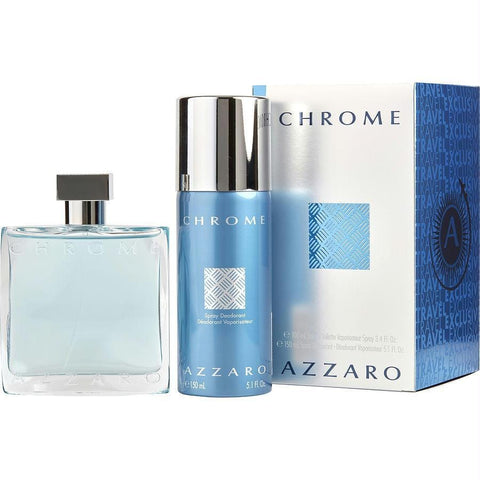 Azzaro Gift Set Chrome By Azzaro - AuFreshScents.Com