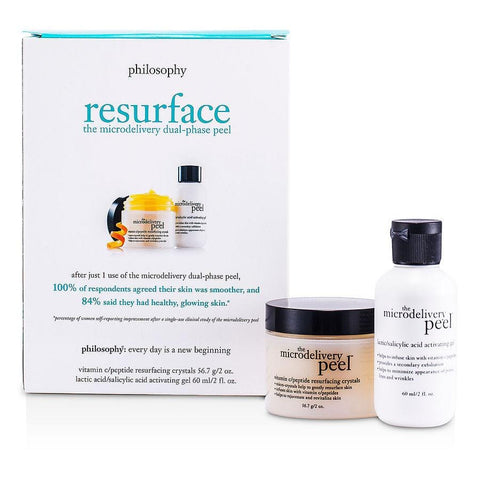 Microdelivery Peel Kit: Lactic-salicylic Acid Activating Gel 2oz & Vitamin C-peptide Resurfacing Crystals 2oz--2pcs