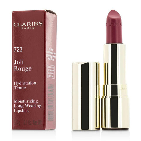 Clarins Joli Rouge (long Wearing Moisturizing Lipstick) - # 723 Raspberry --3.5g-0.12oz By Clarins - AuFreshScents.Com