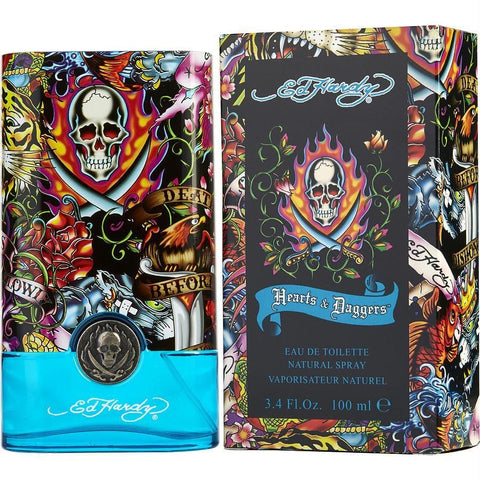 Ed Hardy Hearts & Daggers By Christian Audigier Edt Spray 3.4 Oz - AuFreshScents.Com