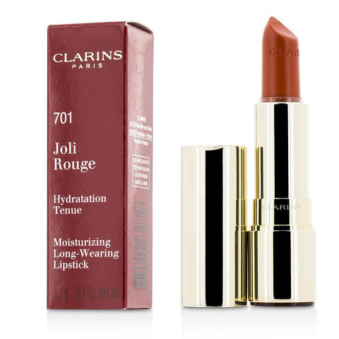 Clarins Joli Rouge (long Wearing Moisturizing Lipstick) - # 701 Orange Fizz --3.5g-0.12oz By Clarins - AuFreshScents.Com