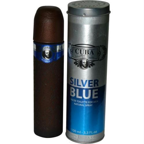 Cuba Silver Blue By Cuba Edt Spray 3.3 Oz - AuFreshScents.Com