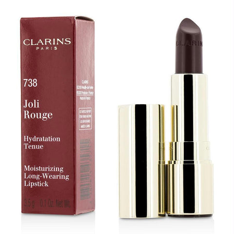 Clarins Joli Rouge (long Wearing Moisturizing Lipstick) - # 738 Royal Plum --3.5g-0.1oz By Clarins - AuFreshScents.Com