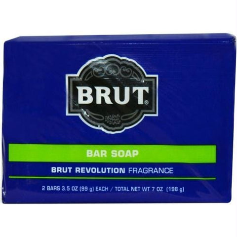 Brut Revolution By Faberge Bar Soap 3.5 Oz Each - Pack Of 2 - AuFreshScents.Com