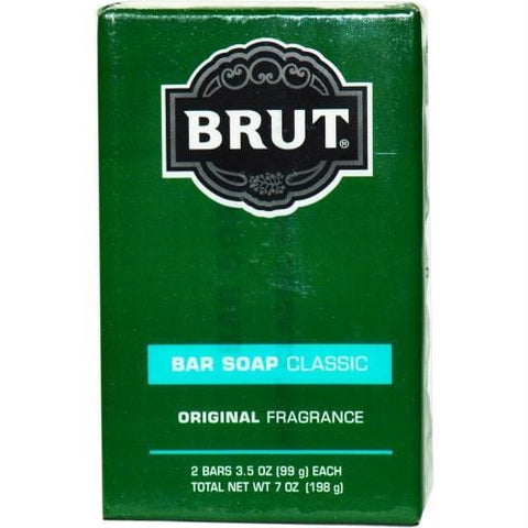 Brut By Faberge Bar Soap 3.5 Oz Each - Pack Of 2 - AuFreshScents.Com