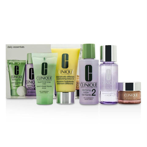 Daily Essentials Set (dry Combination): All About Eyes 15ml-.5oz + Liquid Soap 30ml-1oz + Makeup Remover 50ml-1.7oz + Clarifying Lotion 2 60ml-2oz + Ddml+ 50m-1.7oz --5pcs - AuFreshScents.Com