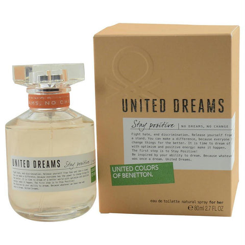 Benetton United Dreams Stay Positive By Benetton Edt Spray 2.7 Oz - AuFreshScents.Com
