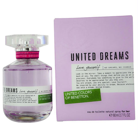 Benetton United Dreams Love Yourself By Benetton Edt Spray 2.7 Oz - AuFreshScents.Com
